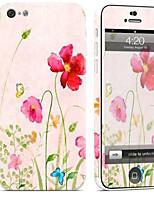 preiswerte -1 Stück Haut-Aufkleber für Kratzfest Blume Muster PVC iPhone 5c