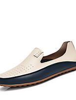 Недорогие -Муж. обувь Искусственное волокно Весна Осень Светодиодные подошвы Мокасины и Свитер для Повседневные Бежевый Синий