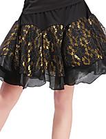 abordables -Danse latine Bas Femme Entraînement Polyester Dentelle Motif / Impression Combinaison Taille basse Jupes