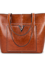 cheap -Women's Bags PU Tote Tiered for Shopping Casual All Seasons Black Red Brown