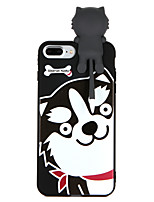 abordables -Funda Para Apple iPhone 8 Plus iPhone 7 Plus Diseños Funda Trasera Perro Suave TPU para iPhone 8 Plus iPhone 7 Plus