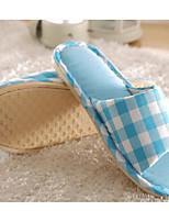Недорогие -Универсальные Обувь Лён Весна Осень Удобная обувь Тапочки и Шлепанцы На низком каблуке для Повседневные Серый Пурпурный Кофейный Розовый