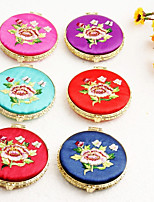 cheap -Birthday Daily Wear Plated Brass Mesh Embroidery Compacts Floral/Botanicals - 1
