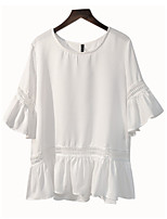 cheap -Women's Flare Sleeve Polyester Blouse - Solid
