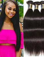 cheap -Brazilian Hair Straight Human Hair Weaves 3pcs Natural Color Hair Weaves Hip & Waist Support Sleep mask