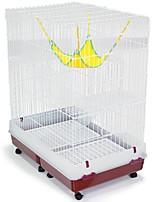 Недорогие -Коты Поднос Клетки Дома Животные Подкладки Однотонный Складной Прочный Эластичный Белый Для домашних животных