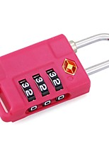 cheap -mechanical code lock travel abroad customs code lock luggage box three pin padlock tsa21037