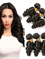 cheap -Brazilian Loose Wave Human Hair Weaves 6 pieces 0.3