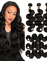 cheap -Brazilian Hair Body Wave Human Hair Weaves 4-Pack Natural Color Hair Weaves