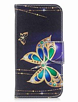 cheap -Case For Apple iPhone X iPhone 8 Plus Card Holder Wallet with Stand Flip Magnetic Full Body Cases Butterfly Hard PU Leather for iPhone X