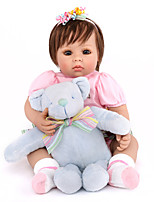 cheap -NPK DOLL Reborn Doll Baby 50cm Vinyl lifelike Cute Child Safe Parent-Child Interaction Simulation Lovely Non Toxic Children's Adults'