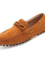 baratos -Homens sapatos Camurça Primavera Outono Sapatos de mergulho Mocassins e Slip-Ons Laço para Casual Azul Escuro Cinzento Marron Vinho