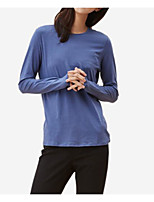 cheap -Women's Daily Simple T-shirt Round Neck Long Sleeves Cotton