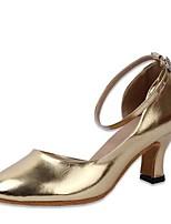 "cheap -Women's Modern Leatherette Sandal Professional Chunky Heel Gold 2"" - 2 3/4"" Customizable"