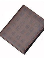 cheap -Men's Bags Cowhide Wallet Pattern / Print Pocket for Shopping Casual All Seasons Coffee