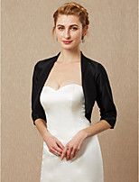 cheap -Half Sleeves Satin Wedding Party / Evening Women's Wrap Shrugs