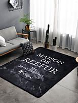 cheap -Creative Modern Area Rugs Bonded Flannelette, Superior Quality Flat Shape Rectangular Floral Print Rug
