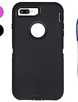 abordables -Funda Para Apple iPhone X iPhone 8 Plus Antigolpes Agua / Polvo / prueba del choque con Ventana Funda de Cuerpo Entero Color sólido Suave