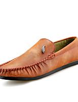 Недорогие -Муж. обувь Полиуретан Весна Осень Мокасины Мокасины и Свитер для Повседневные Черный Серый Коричневый