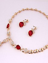 cheap -Women's Jewelry Set 1 Necklace - Classic Fashion Red Jewelry Set Chain Necklace For Daily Evening Party