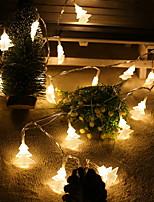 Недорогие -20 leds 2m рождественская елка строка свет теплый белый aa батареи питание