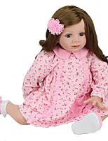 Недорогие -NPK DOLL Куклы реборн Дети 60cm Винил как живой Милый стиль Безопасно для детей Взаимодействие родителей и детей моделирование Милый Non