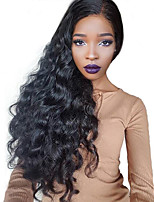 cheap -Remy Brazilian Hair Lace Wig Wavy 360 Frontal With Baby Hair 360 Frontal Unprocessed 100% Virgin Natural Hairline 150% 180% Density