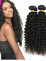 abordables -Cheveux Péruviens Kinky Curly Tissages de cheveux humains 4pcs Tissages de cheveux humains