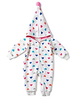 cheap -Baby Girls' Daily Sports Solid One-Pieces, Cotton Winter Fall Active White