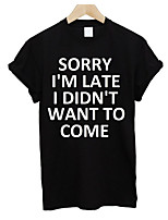 cheap -Women's Polyester T-shirt - Letter
