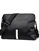 cheap -Men's Bags PU Shoulder Bag Zipper for Casual Office & Career All Seasons Black