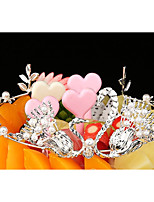 cheap -Cake Topper Romance Wedding Princess Alloy Wedding Party with Faux Pearl 1 Gift Bag