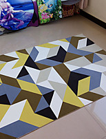 cheap -Creative Casual Polyster, Superior Quality Rectangular Rainbow Rug