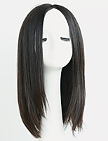 cheap -Synthetic Hair Wigs Straight Natural Hairline Layered Haircut Celebrity Wig Natural Wigs 13cm(Approx5inch) Dark Black