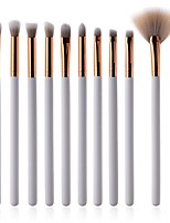 cheap -10-Pack Makeup Brush Set Synthetic Hair Soft Beech Wood Eye