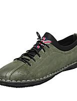 economico -Per uomo Scarpe Pelle di maiale Primavera Autunno Suole leggere Sneakers per Casual Nero Verde Cachi