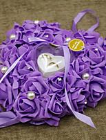 abordables -anneau en plastique oreiller romance mariage tous les seazons