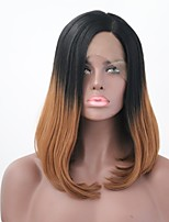 cheap -Synthetic Hair Wigs Straight Bob Haircut Lace Front Natural Wigs 13cm(Approx5inch) Black