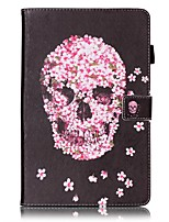 cheap -Case For Samsung Galaxy Tab E 9.6 Card Holder Wallet with Stand Pattern Auto Sleep/Wake Up Full Body Cases Skull Hard PU Leather for Tab