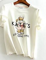 abordables -Tee-shirt Femme,Géométrique Quotidien simple Eté Manches courtes Col Arrondi Polyester