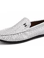 Недорогие -Муж. обувь Полиуретан Весна Осень Мокасины Мокасины и Свитер для Повседневные Черный Светло-серый Зеленый Светло-Зеленый