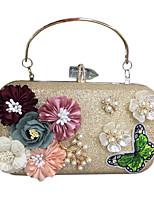 preiswerte -Damen Taschen Kunstleder Abendtasche Applikationen Perlen Verzierung für Hochzeit Veranstaltung / Fest Formal Ganzjährig Gold