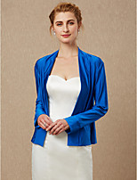 cheap -Long Sleeves Spandex Wedding Party / Evening Women's Wrap Coats / Jackets