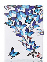 cheap -Case For Apple iPad 10.5 iPad (2017) Wallet with Stand Flip Pattern Auto Sleep/Wake Up Full Body Cases Butterfly Hard PU Leather for iPad