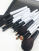 cheap -15pcs Lip Brush Eyeshadow Brush Blush Brush Makeup Brush Set Horse Weasel Horse Hair Wooden Adult Face Nose