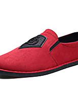 Недорогие -Муж. обувь Нубук Весна Осень Мокасины Мокасины и Свитер для Повседневные Черный Серый Красный