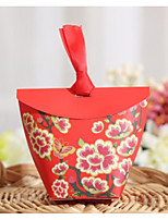 cheap -Taper Shape Card Paper Favor Holder with Pattern / Print Favor Boxes - 1pc