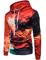 cheap -Men's Daily Color Block Hooded Hoodie Regular, Long Sleeves Spring Fall