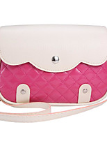 cheap -Women's Bags PU Shoulder Bag Buttons for Casual Spring Fall Silver Blushing Pink Purple Fuchsia Royal Blue