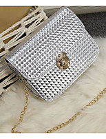 cheap -Women's Bags PU Shoulder Bag Buttons for Casual Winter Gold White Black Silver